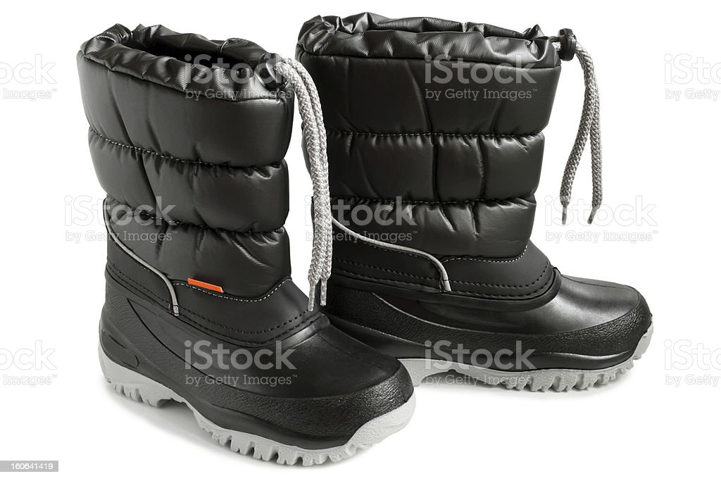 Children winter boot royalty-free stock photo