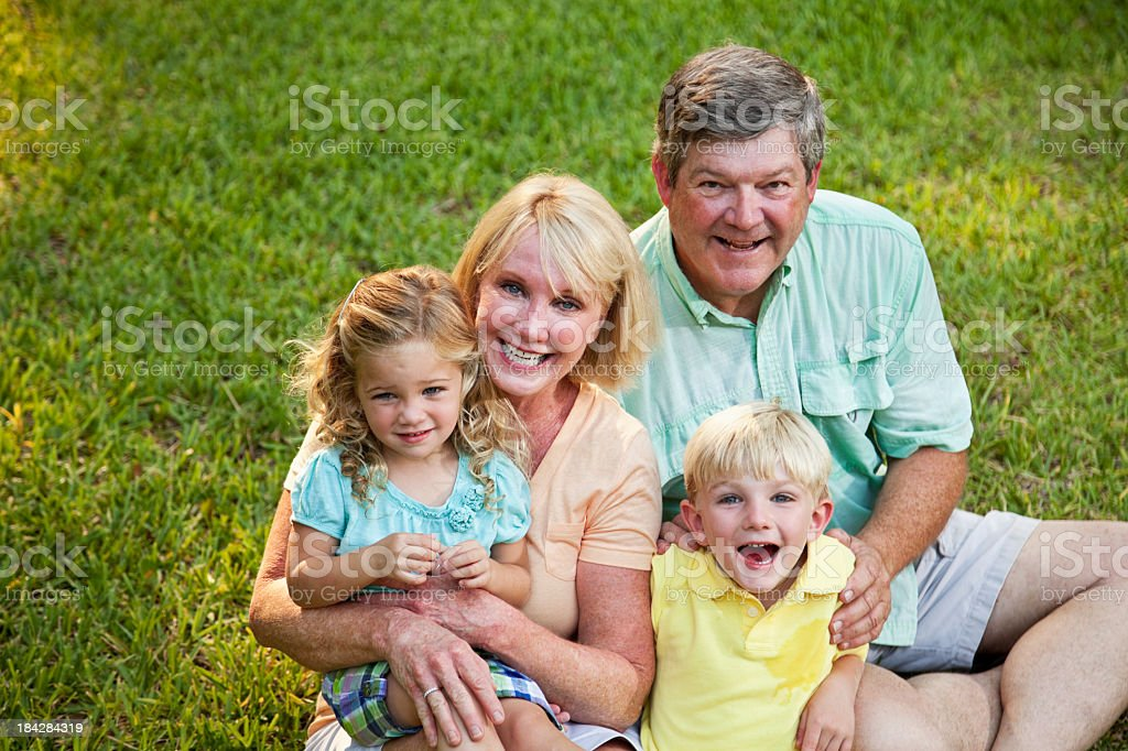 Children with grandparents royalty-free stock photo