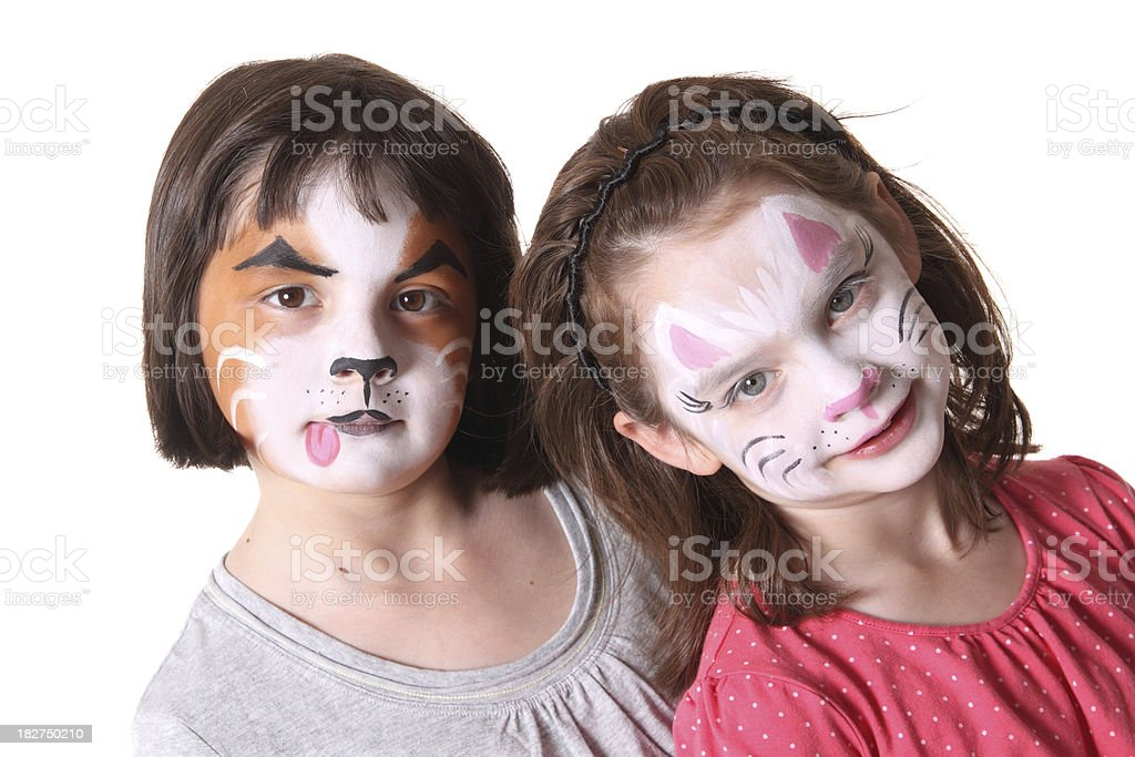 Children with Painted Faces royalty-free stock photo