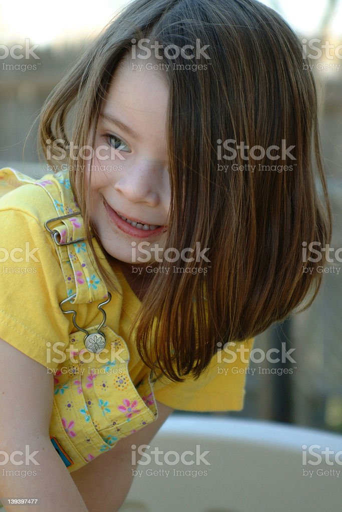 Children - Yellow Overalls royalty-free stock photo