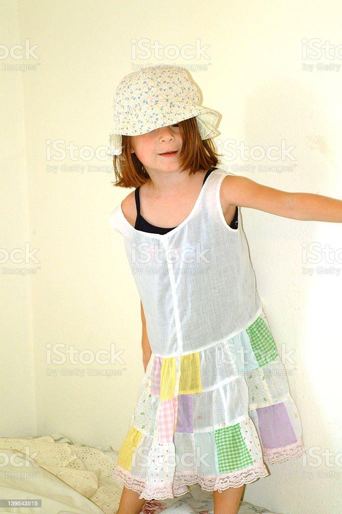 Children-Little Girl Silly Dress royalty-free stock photo