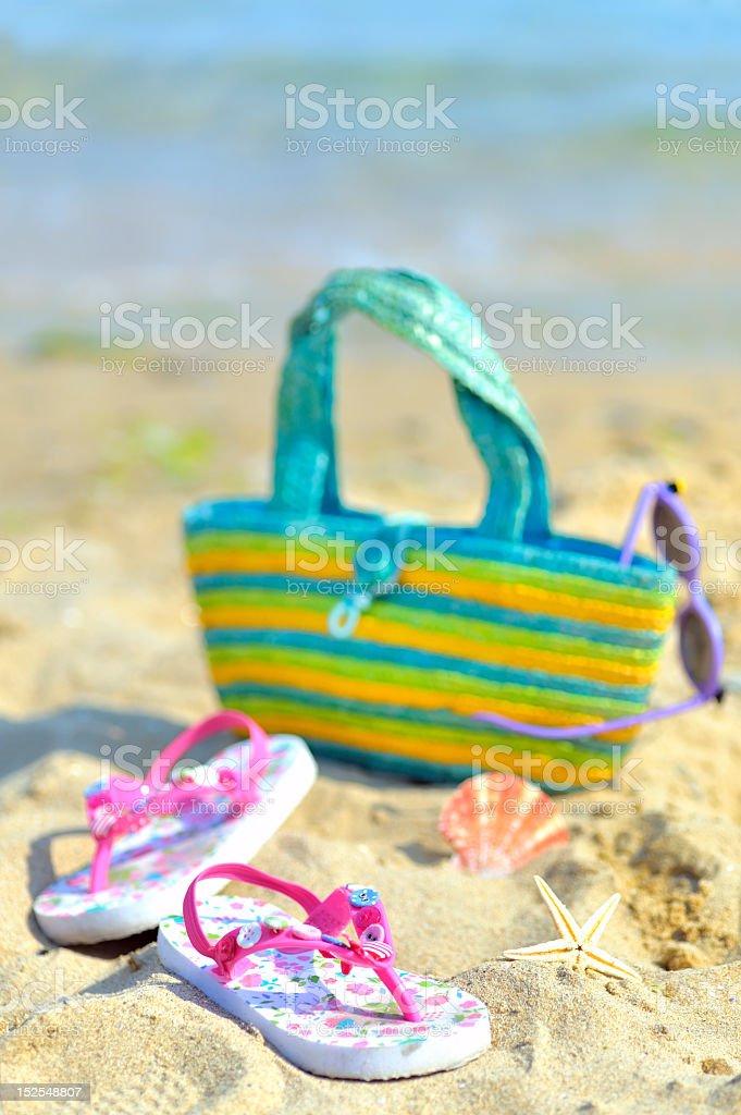 Children's beach accessories royalty-free stock photo
