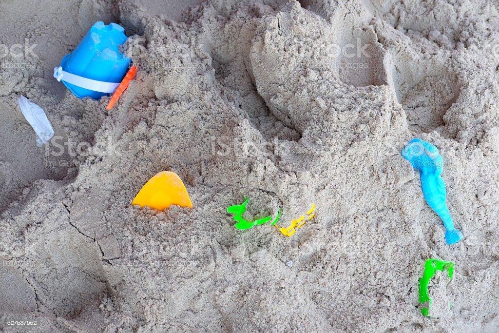 Children's beach toys stock photo