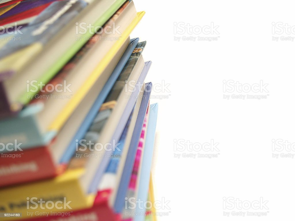 Children's Books Stacked royalty-free stock photo