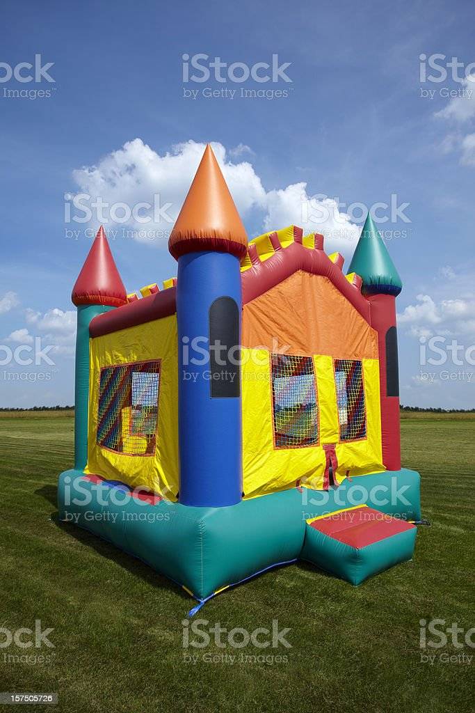 Children's Bounce House Inflatable Jumping Playground stock photo