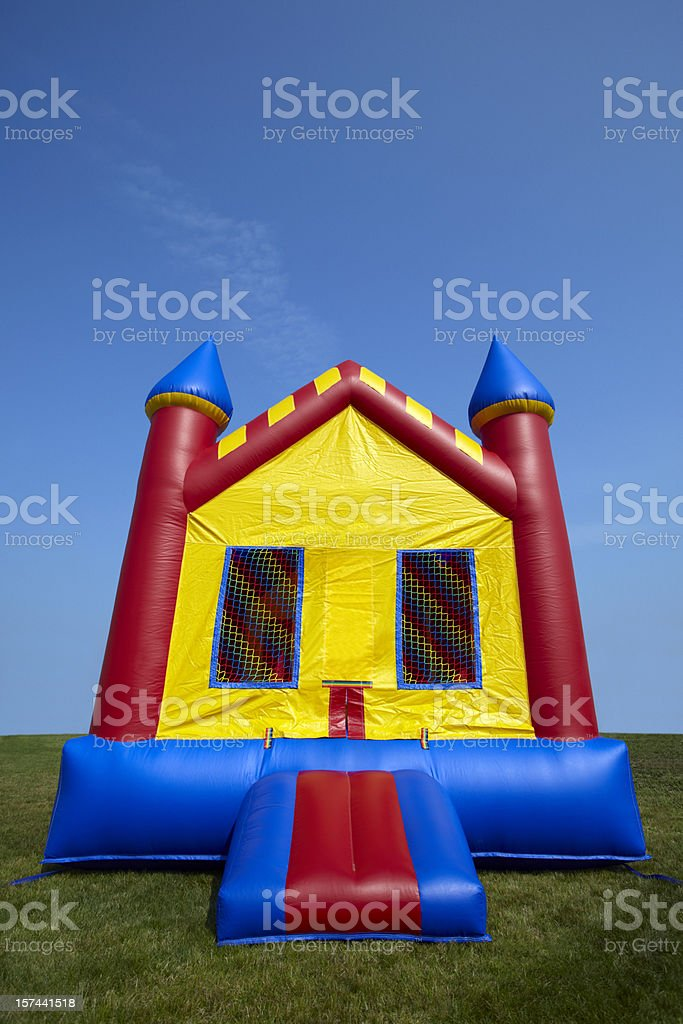 Childrens Bouncy Castle Inflatable Playground stock photo