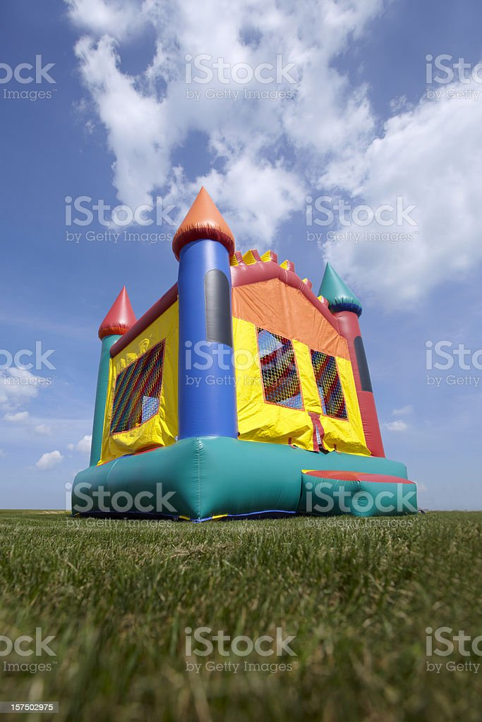 Children's Bouncy Castle Inflatable Playground stock photo