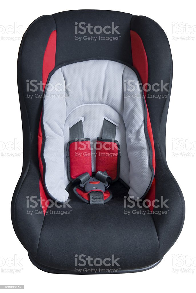 Children's car seat | Isolated royalty-free stock photo