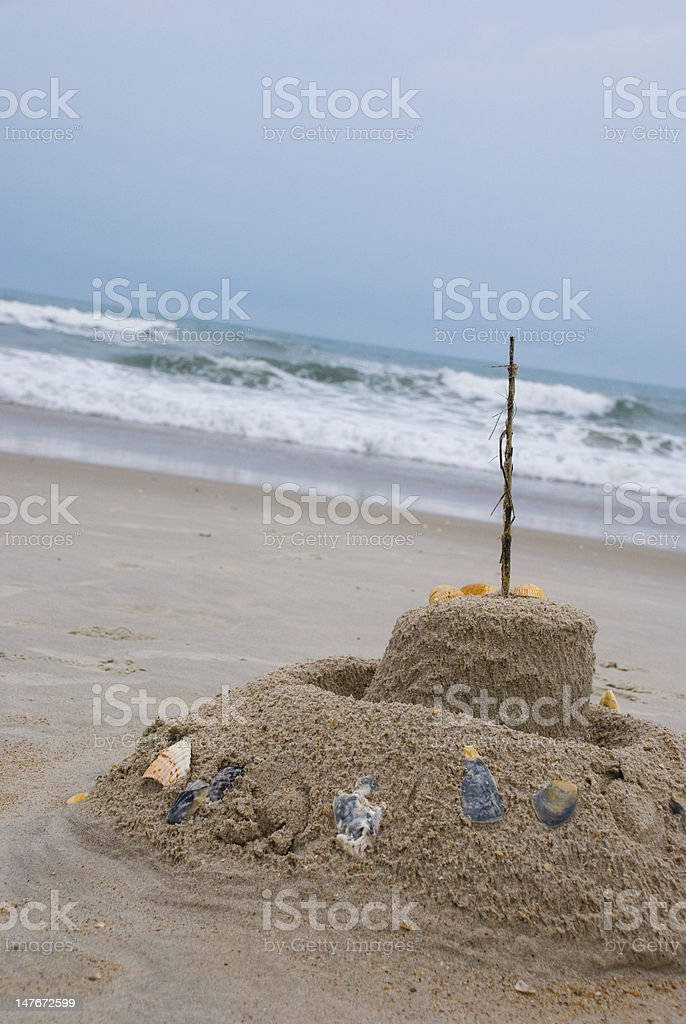 Children's Castle on a Stormy Day stock photo