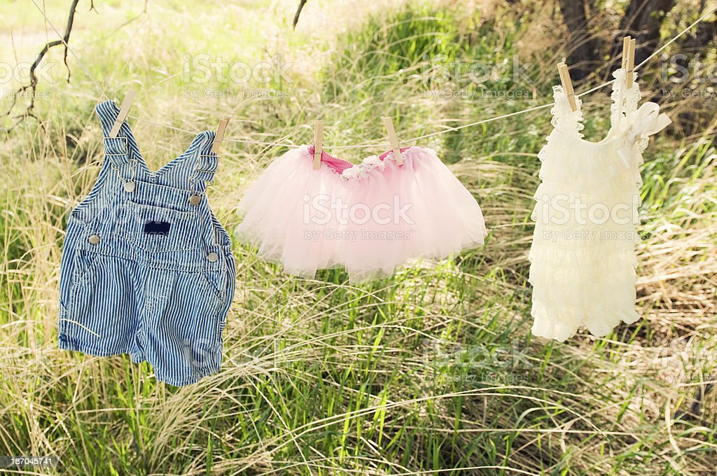 Children's Clothes Line royalty-free stock photo