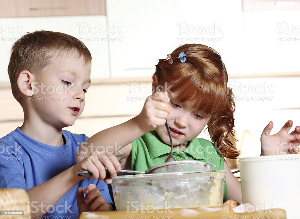 Children's cooking royalty-free stock photo