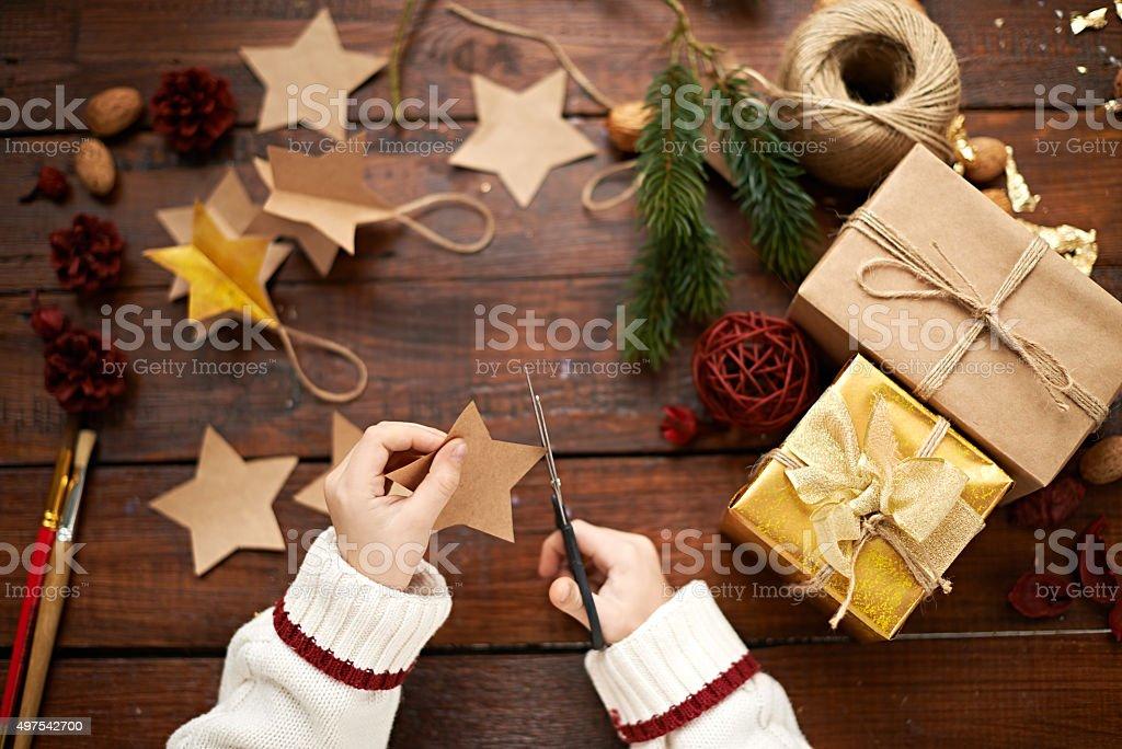 Children's creativity stock photo