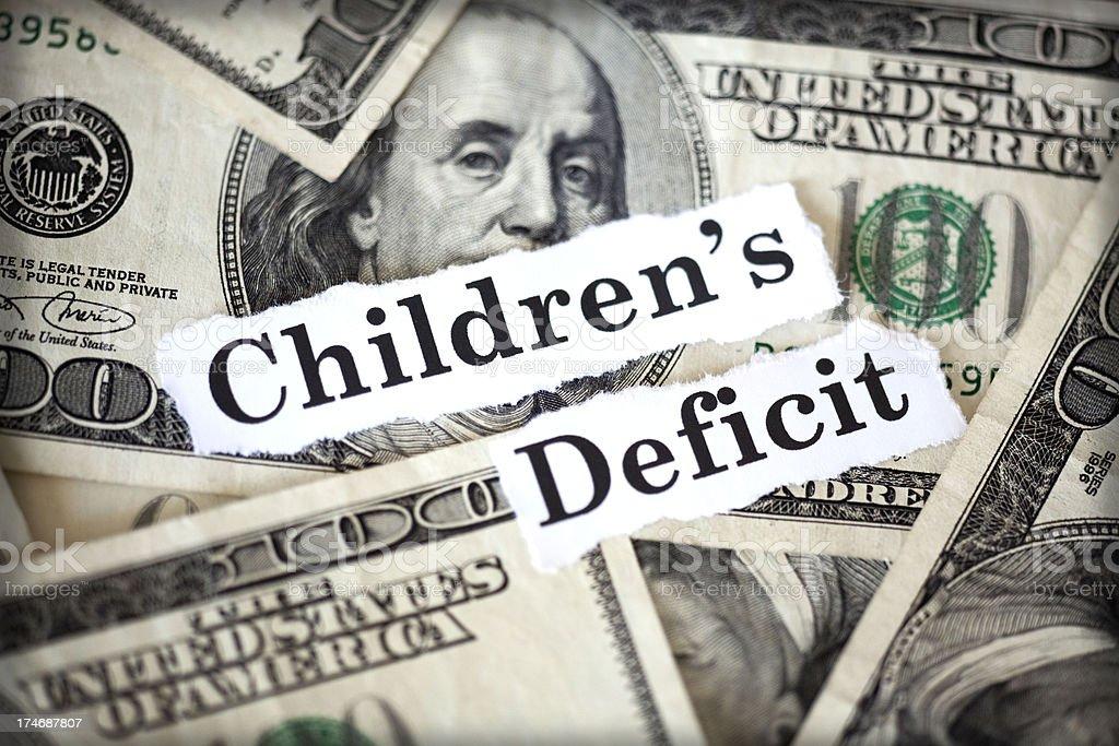 children's deficit royalty-free stock photo
