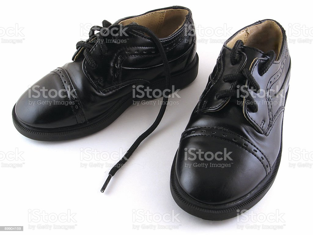 Children's Dress Shoes stock photo