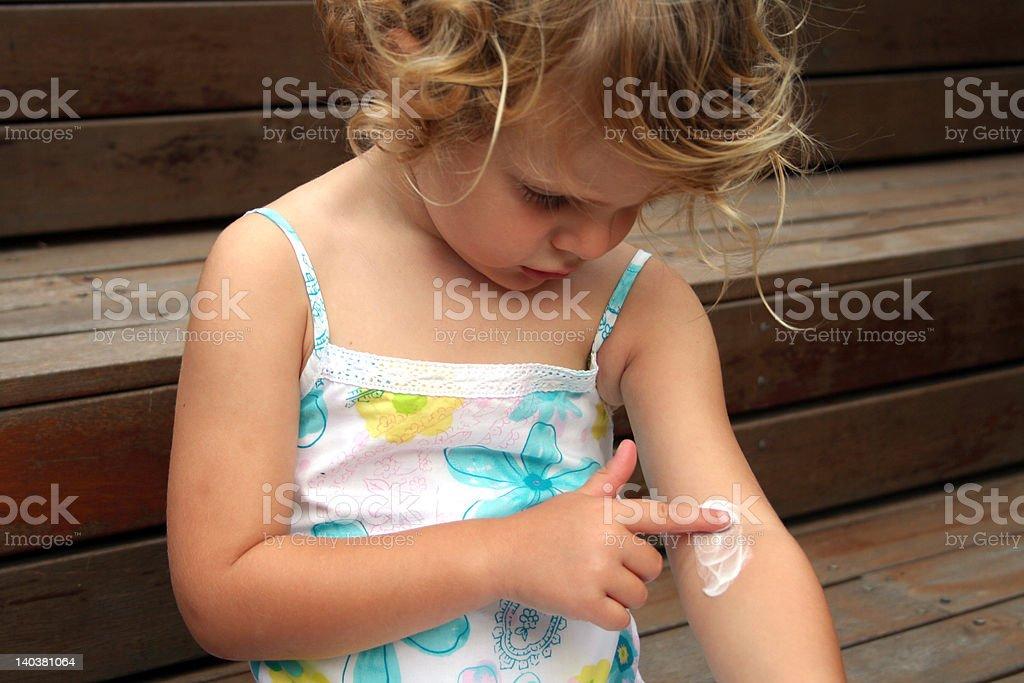 childrens eczema stock photo