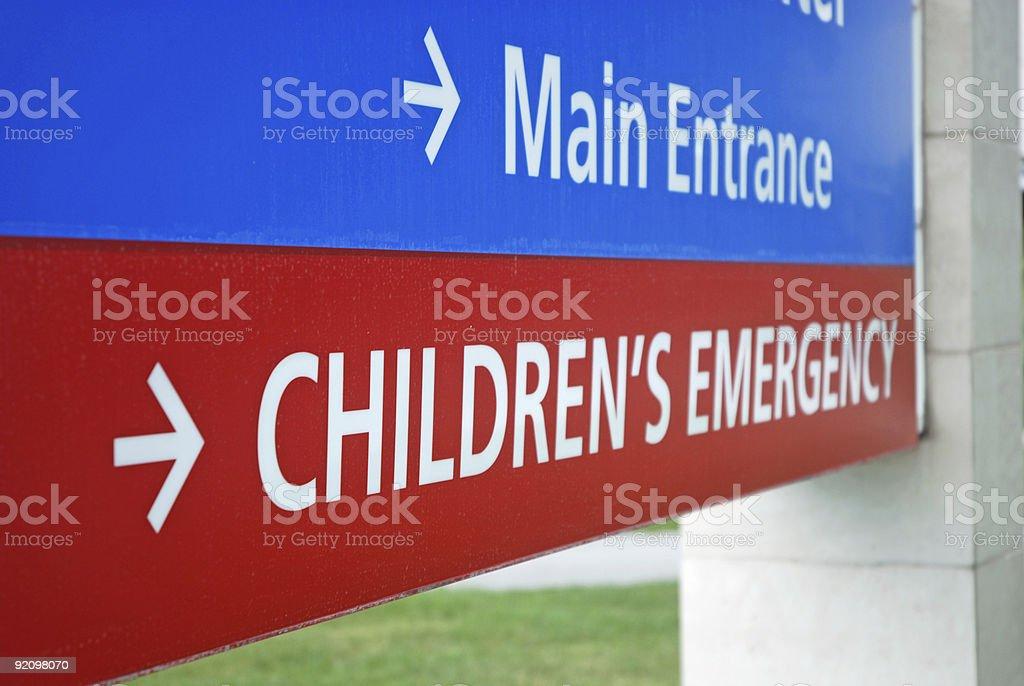 Children\'s Emergency Room Sign