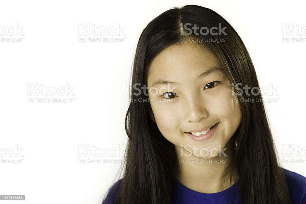 Childrens Faces of Diversity Asian Girl royalty-free stock photo