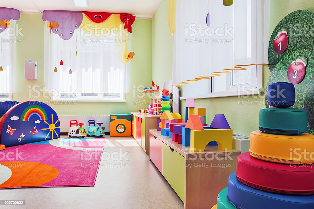 Children's games room. stock photo