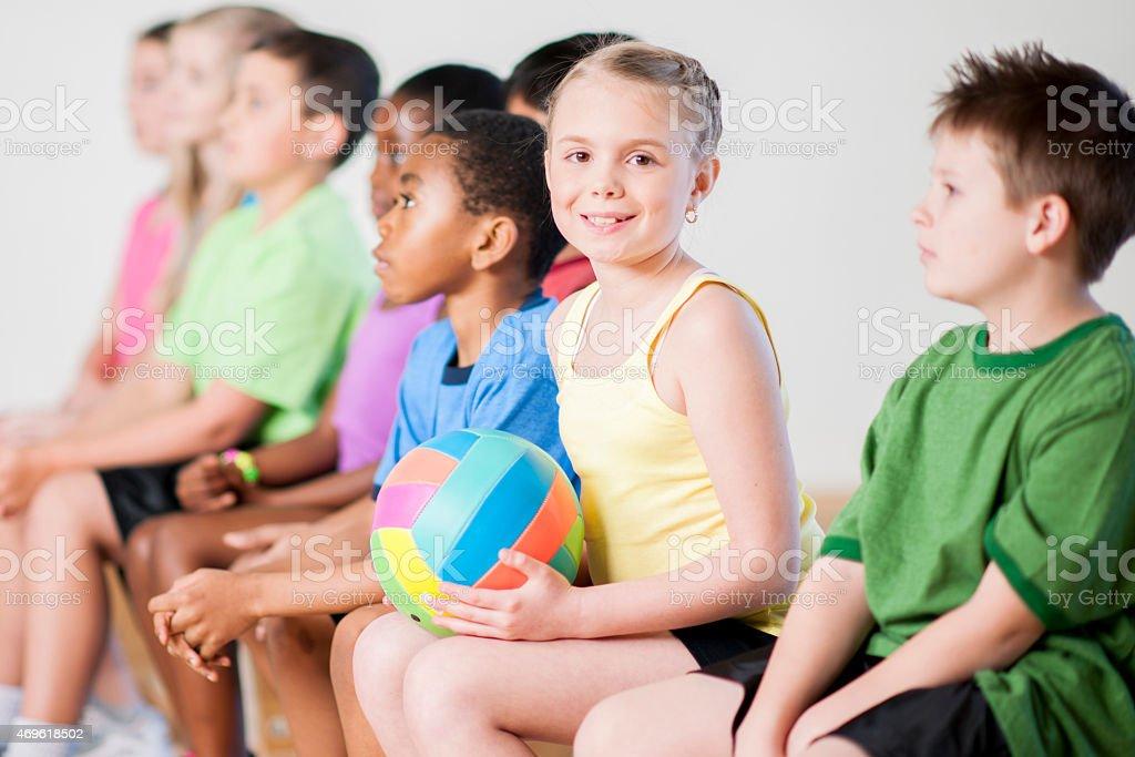 Childrens Gym Class stock photo