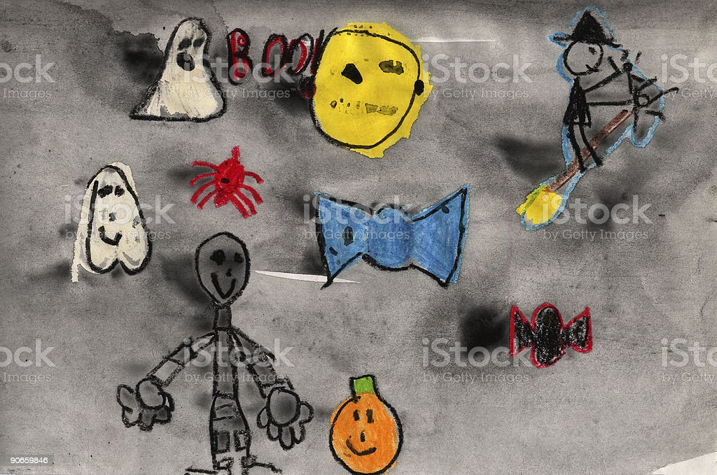 Children's Halloween Characters royalty-free stock photo