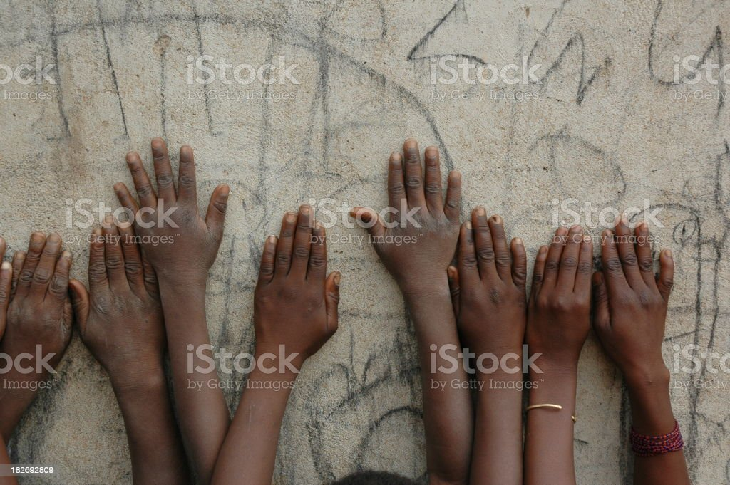 Children's Hands - African Kids royalty-free stock photo