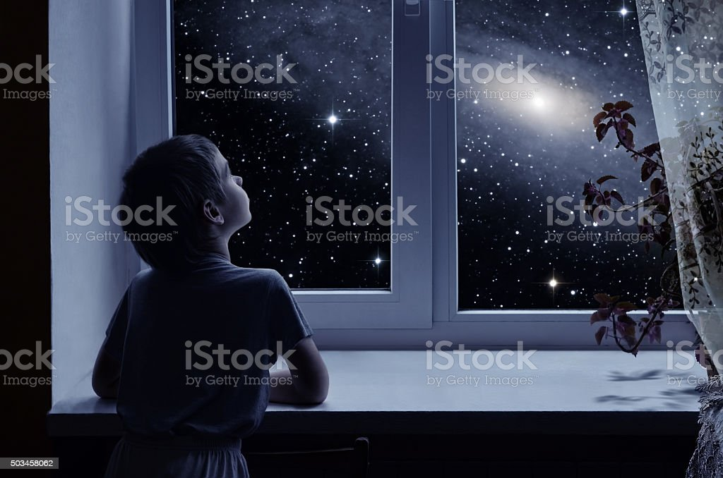 Children's imagination stock photo