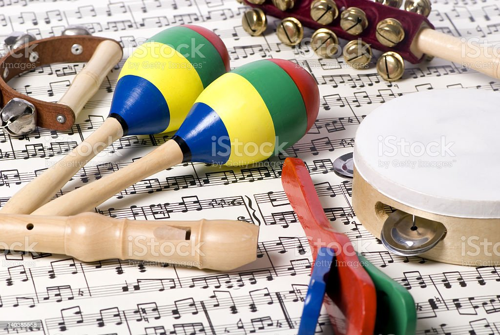 Children's Instruments 2 royalty-free stock photo