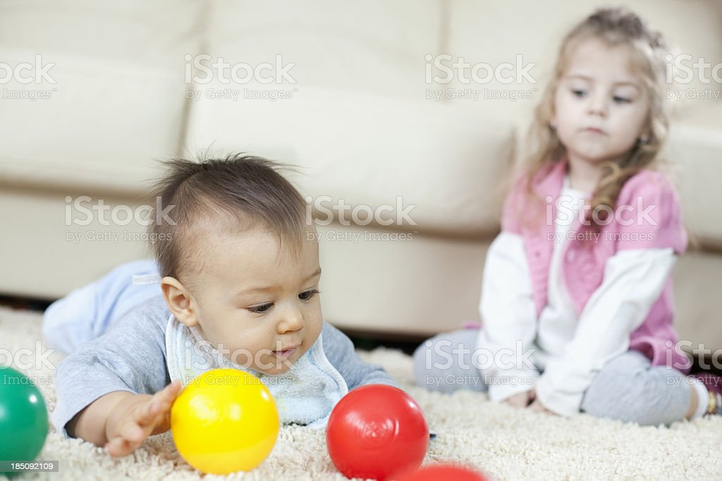 Children's jealousy royalty-free stock photo