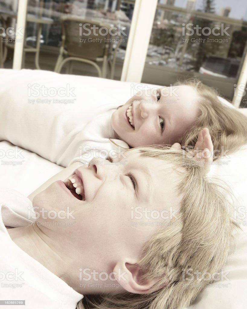 Children's Laughter stock photo