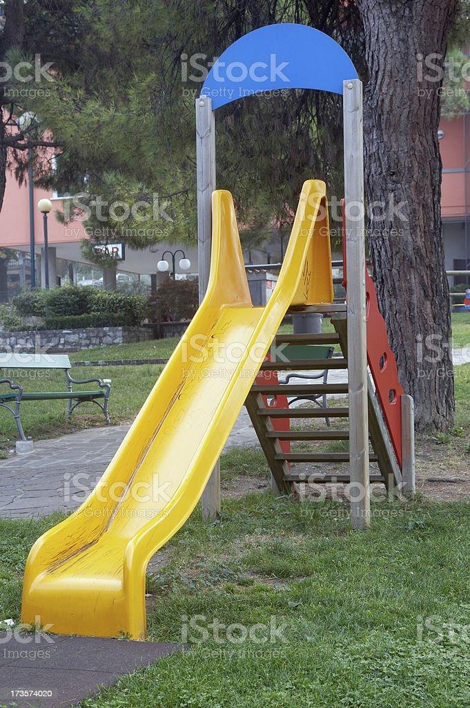 Children's park slide royalty-free stock photo