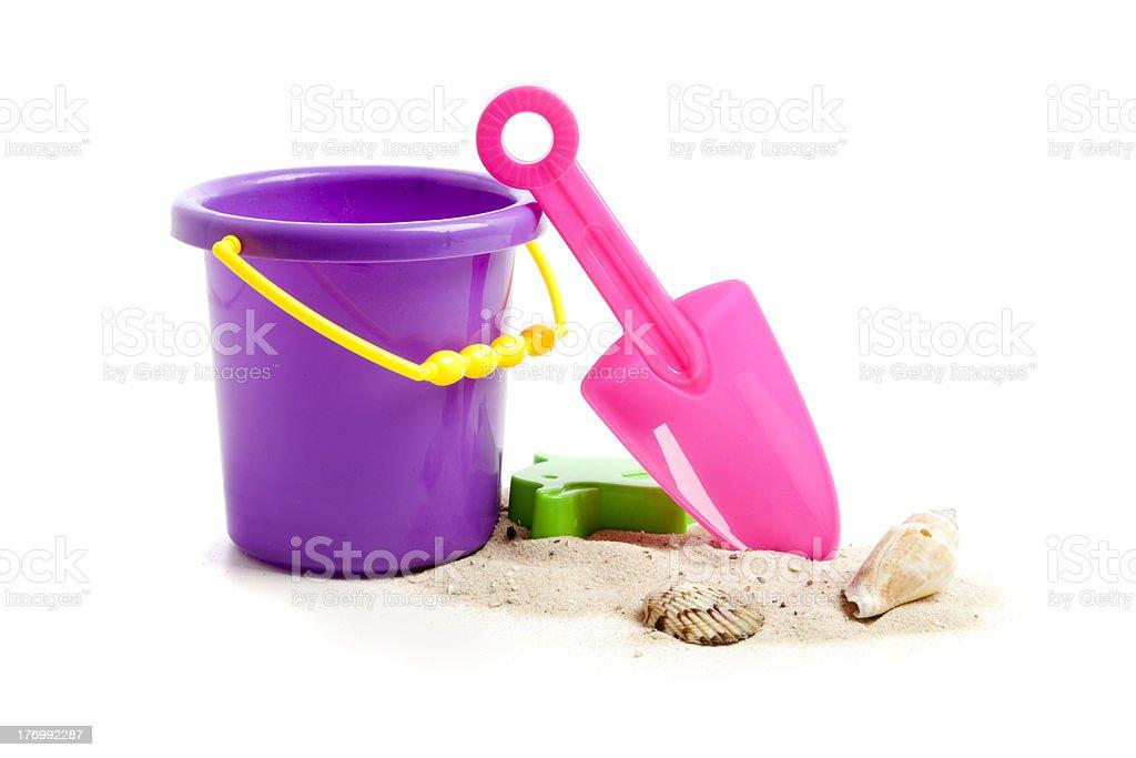 Childrens Plastic Beach Toys stock photo