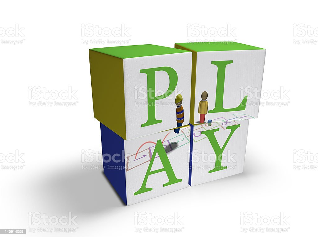 Children's Play Blocks royalty-free stock photo