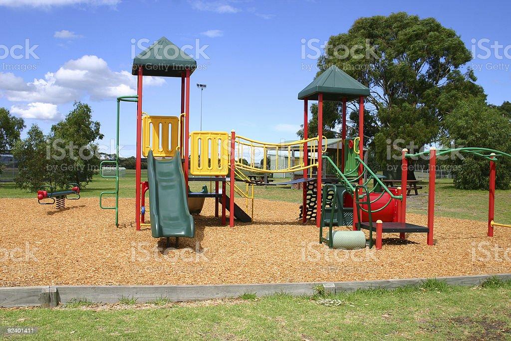 childrens play equipment stock photo