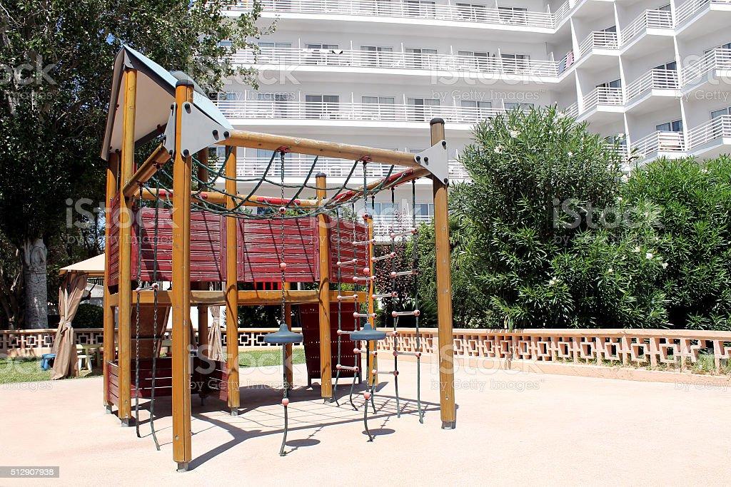 Childrens play park stock photo
