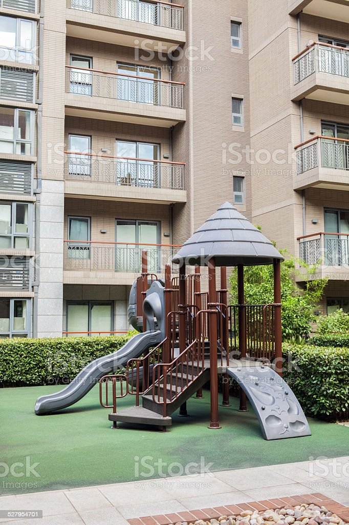 Children's playground stock photo