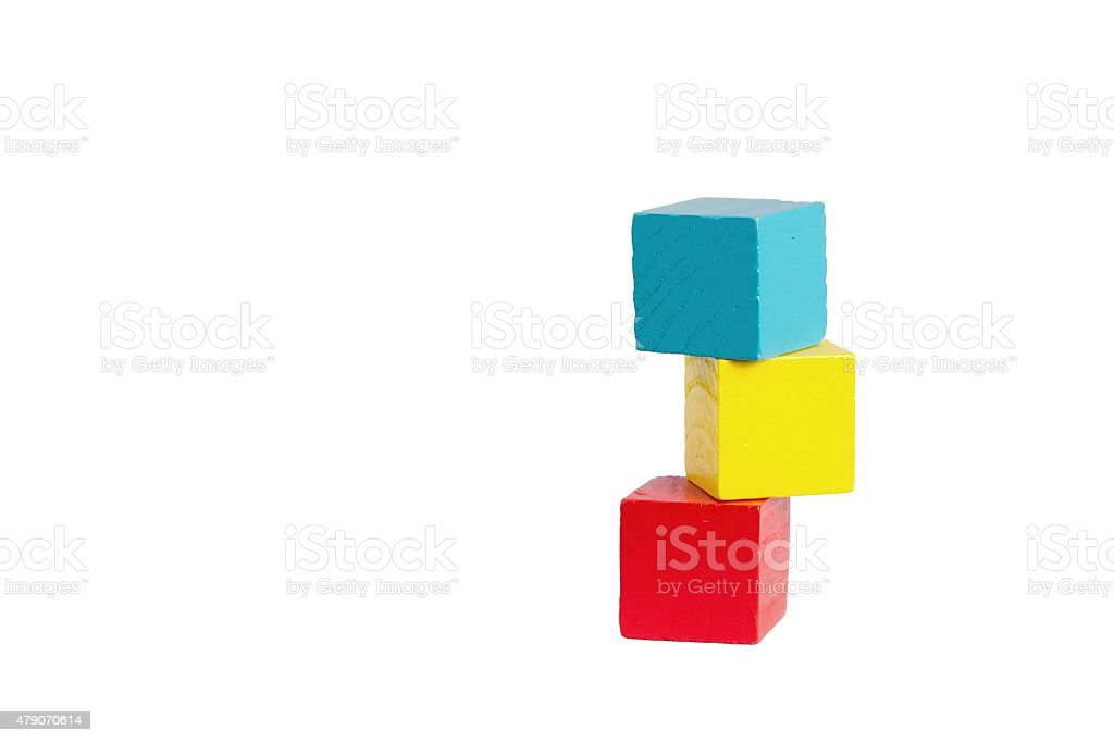 Children's playing cubes stock photo