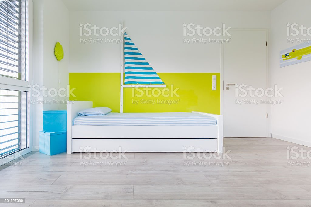 Children's playroom with bed stock photo