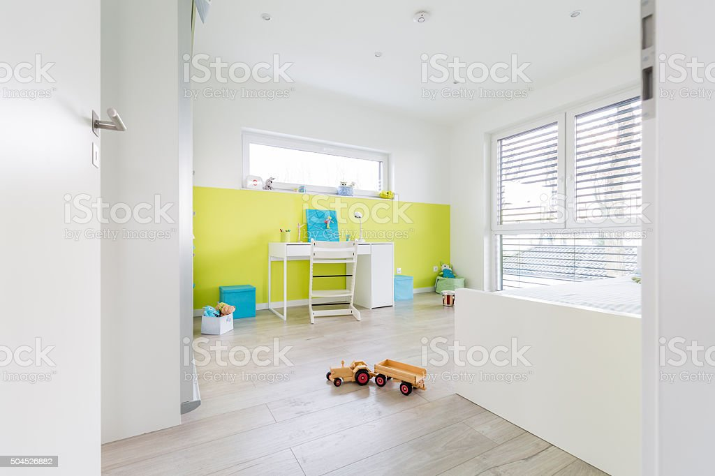 Children's Playroom with Desk stock photo
