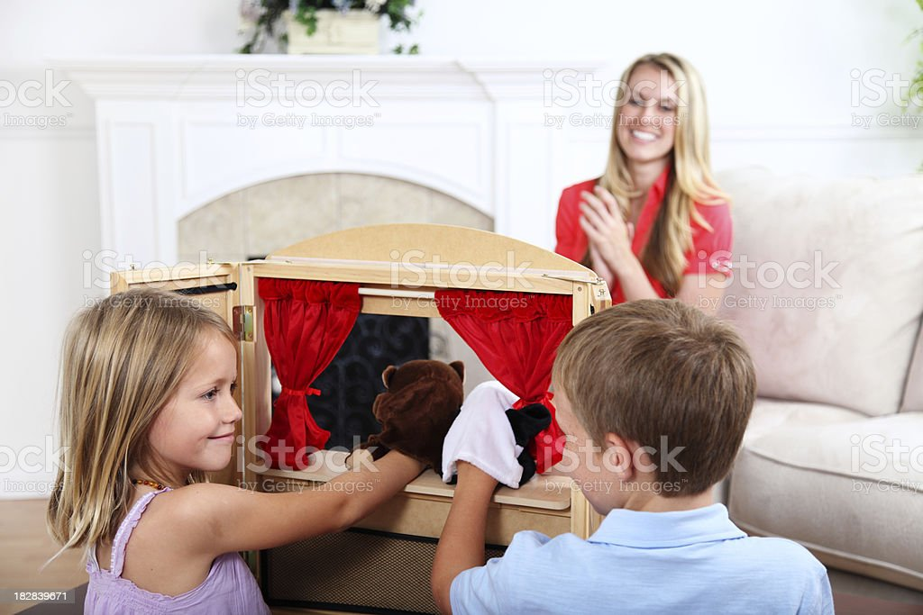 Children's Puppet Show stock photo