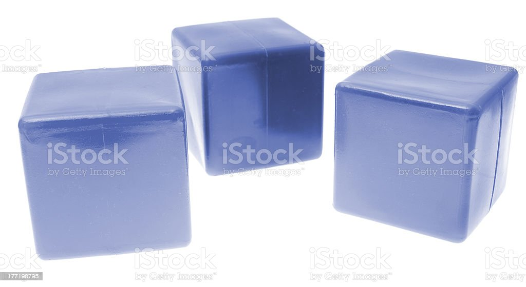 Children's pyramid from color cubes isolated on white background. royalty-free stock photo