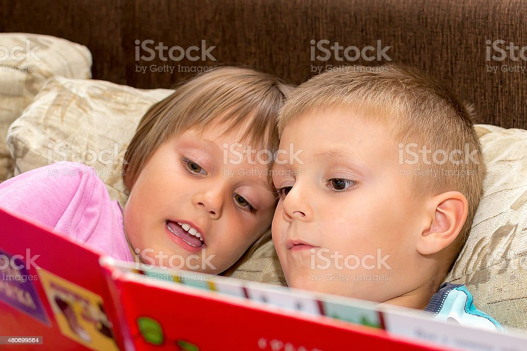 Children's Read Fairy Tales stock photo