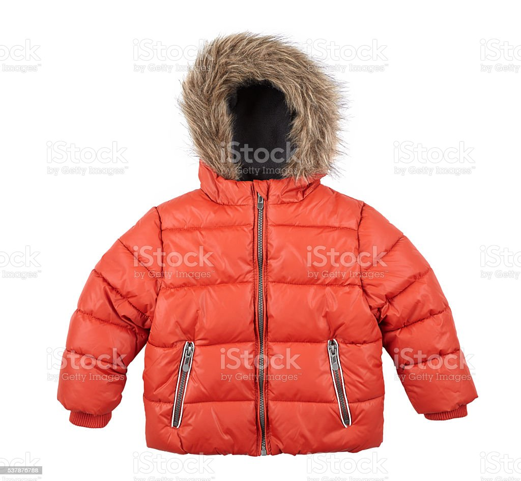 children's red jacket stock photo