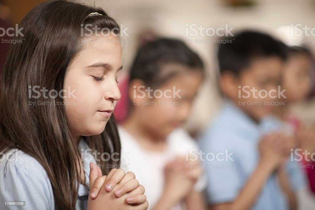 Children's religious program royalty-free stock photo