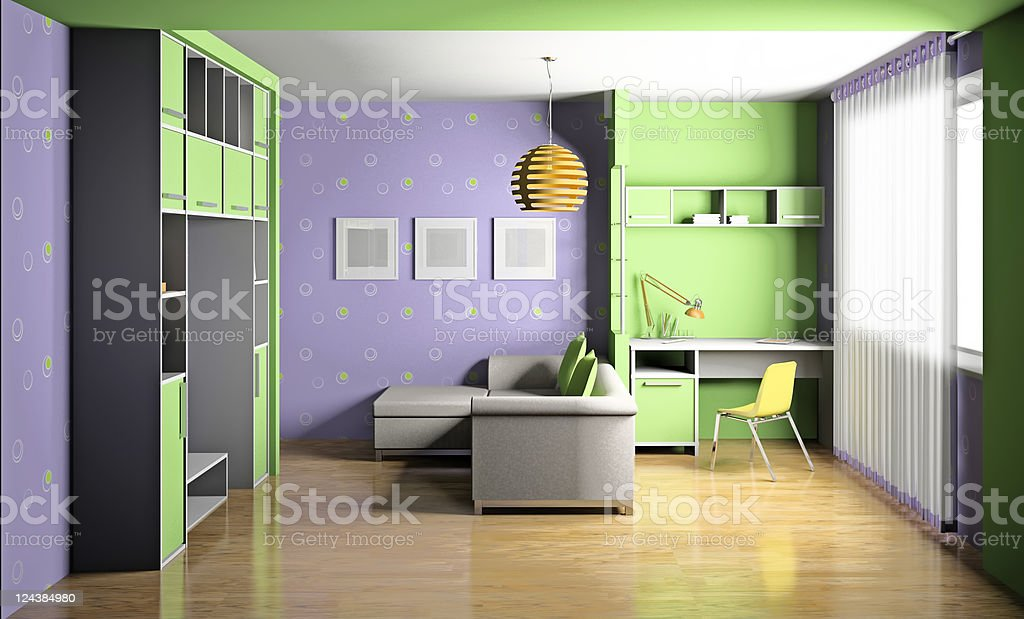 Children's room 3d royalty-free stock photo