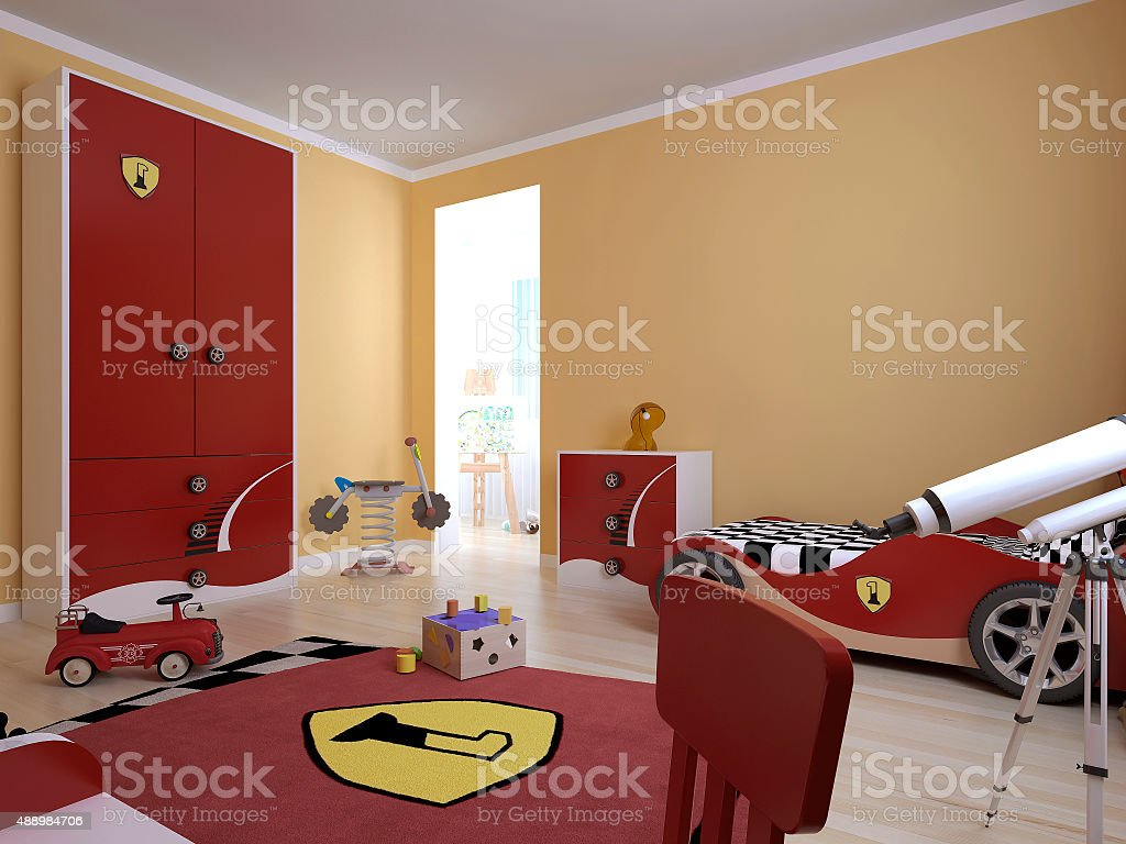 Childrens room in a modern style stock photo