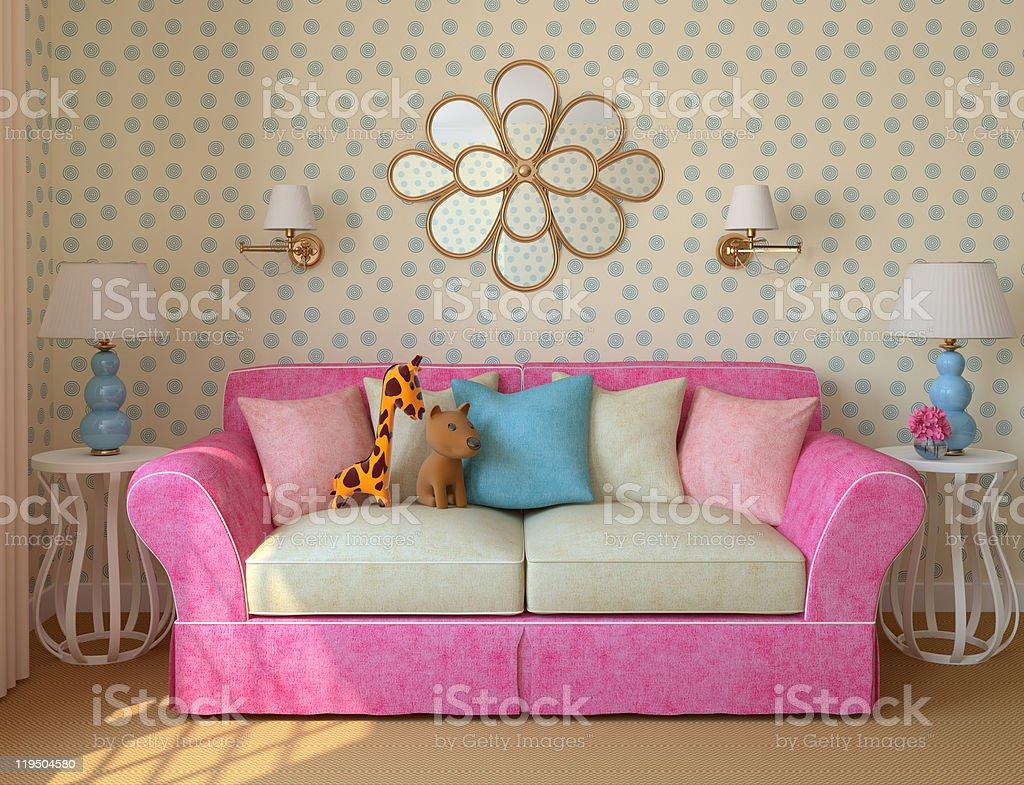 Children's room. royalty-free stock photo