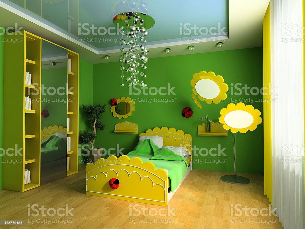 Children's room royalty-free stock photo