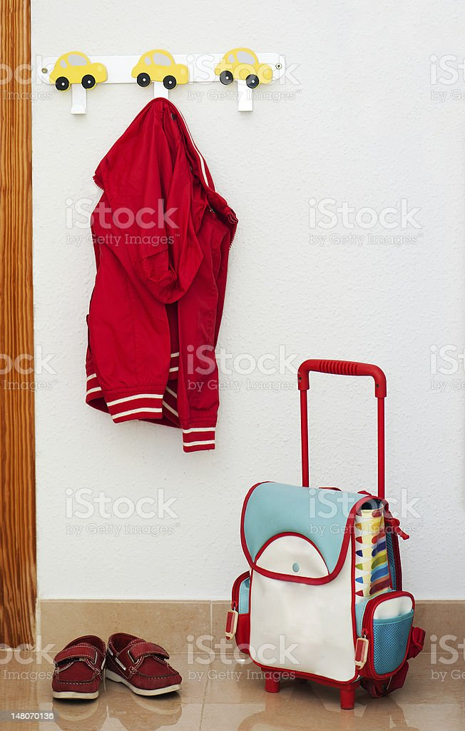 Children's set of red royalty-free stock photo