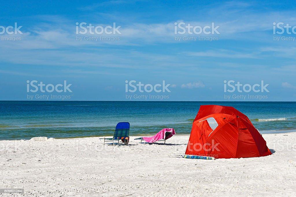 Children's Shelter Beach Tent stock photo