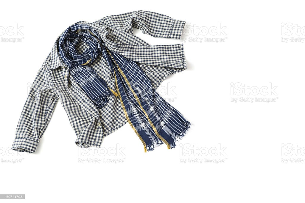 Children's shirt and scarf stock photo